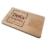 Cadeau d'affaire Carte USB Drive-Wood