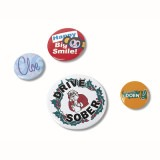Cadeau d'affaire Badge bouton Budget (2,5 cm)